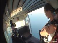 Ausblick vor dem Absprung in 4600 Metern Höhe