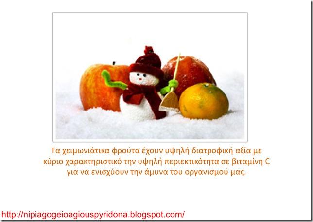 Τα φρούτα του χειμώνα-2