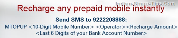 Recharge Mobile Instantly with SMS