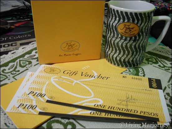 P200 worth of Figaro Voucher and Figaro mug