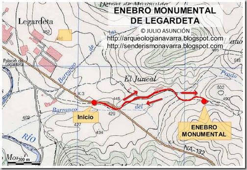 Mapa Enebro de Legardeta
