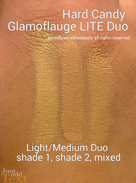 Hard Candy Glamoflauge LITE Concealer Duo in Light/Medium Swatches