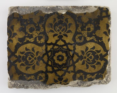 Tile | Origin:  Turkey | Period: 18th century | Details:  Not Available | Type: Stone-paste | Size: H: 19.2  W: 28.4  cm | Museum Code: F1909.4 | Photograph and description taken from Freer and the Sackler (Smithsonian) Museums.