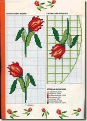 toalhas com rosas vermelhas no meio grafico