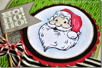 Santa Claus closeup Holidays from the Heart card
