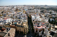 The view of Seville from the cathedral