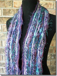 purple teal scarf