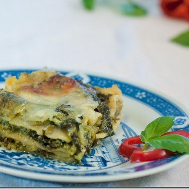 Pesto Kale Lasagna