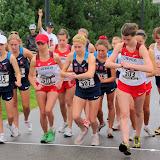Start of the Women's 5k race walk.