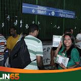 Apoiadores Carlin 65 no Metrô
