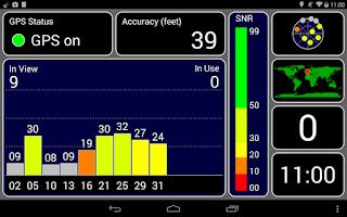Screenshot of GPS Test Plus