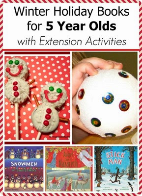 Winter holiday books for 5 year olds with Extension Activities