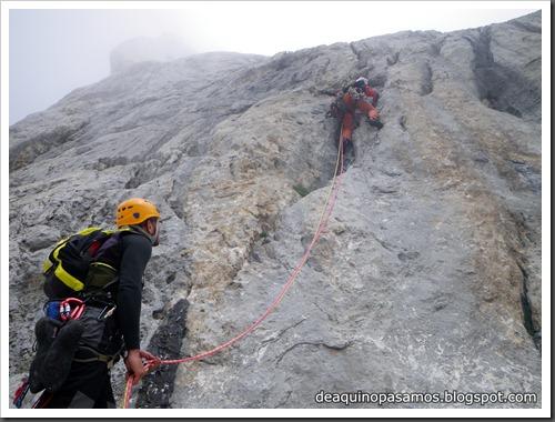 Via Directa de Los Martinez 250m D- V- (Picu Urriellu, Picos de Europa) (Isra) 1164