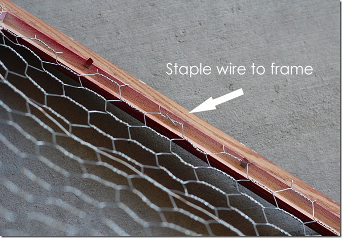 Staple Wire to Frame