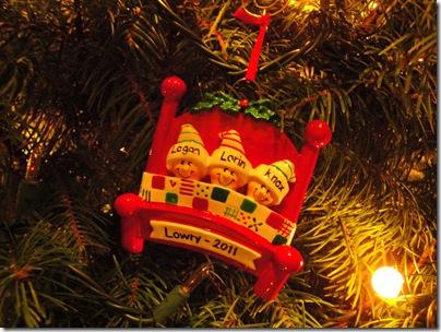 22.  Lowry Christmas Ornament 2011