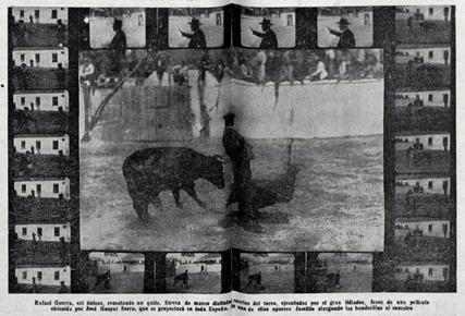 1914-04-13 (p. TKL) Anuncio pelicula tentadero Guerrita-Jose
