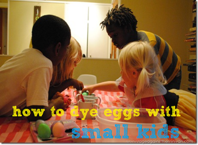 how to dye eggs with small kids