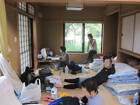 Before climbing at Shinkai's home!!