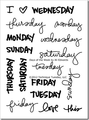 Technique-Tuesday-Days-Of-The-Week-By-Ali-Edwards-Clear-Stamps-Medium