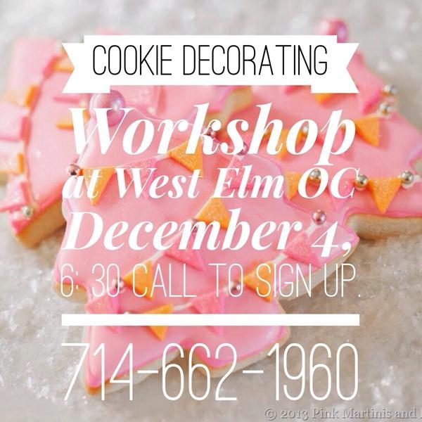 West Elm Cookie Decorating Workshop