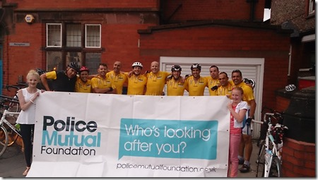 Cheshire Police team cycling for COPS