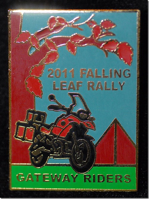 2011 falling leaf rally pin