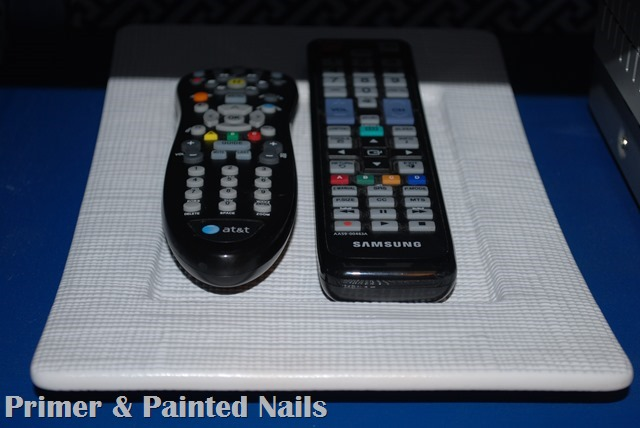 Remote Holder After  Up Close - Primer & Painted Nails