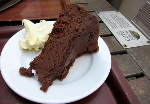 Chocolate and chestnut cake