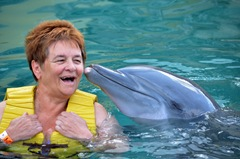 Barb Gets A Dolphin Kiss