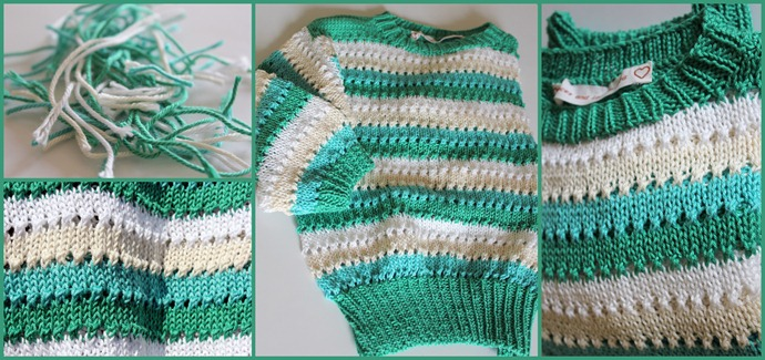 Green stripy crop top