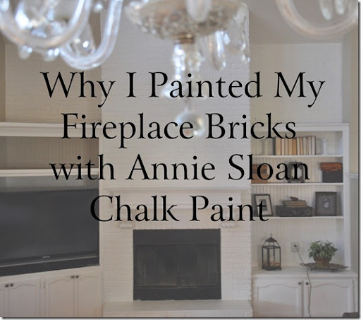 Gwen Moss: Before and After: my white chalk-painted fireplace