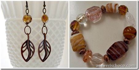 Copper and Amber Set