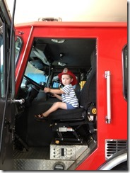 saylor in fire truck August 13 2013