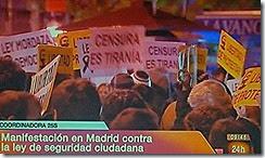 Cidadãos do Estado Espanhol contra lei do medo.Nov.2013