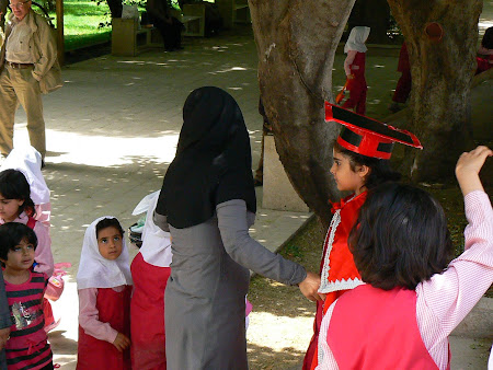 Things to see in Shiraz: young Iranian school children