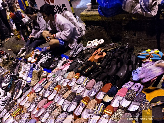 Sandals and Sneakers at Baguio's Weekend Night Market