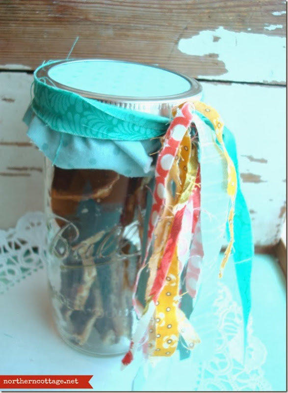 {Northern Cottage} pretty packaged treats in a jar