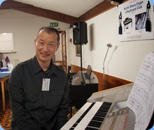 A photo shot of Taka Iida before commencing his magnificent Concert on his Yamaha Electone Stagea. Photo courtesy of Dennis Lyons.