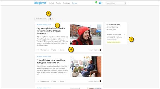 bloglovin kullanımı