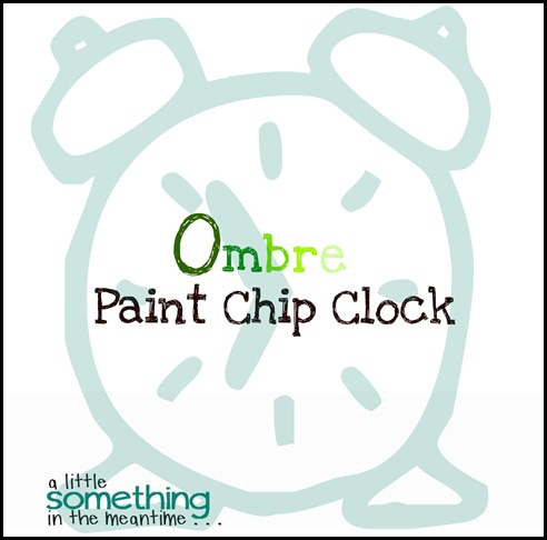 Ombre Paint Chip Clock Graphic Banner