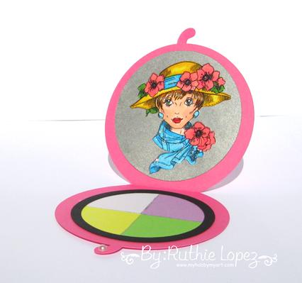 Rick St. Dennis - Poppy -Mirror Card - Tarjeta en forma de espejo -Ruthie Lopez. 2