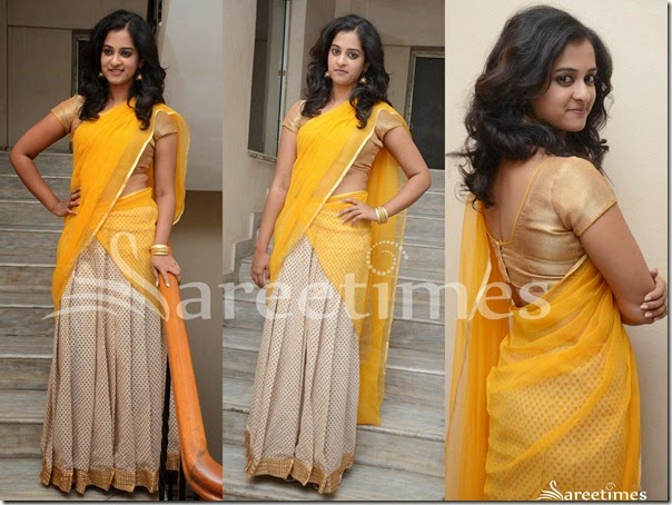 Nandita_Yellow_Cream_Half_Saree