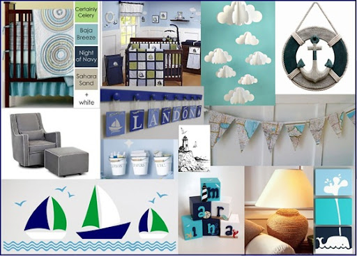 This color scheme easily goes with a nautical ocean theme