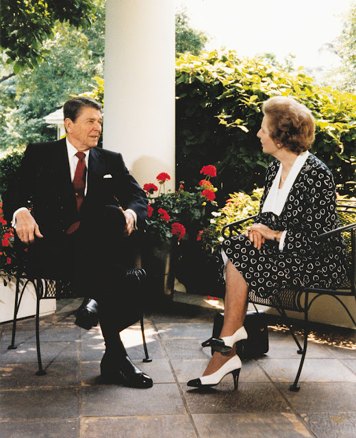 Ronald Reagan and Margaret Thatcher at the White House, Washington.jpg
