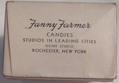 Fanny Farmer candy end of box