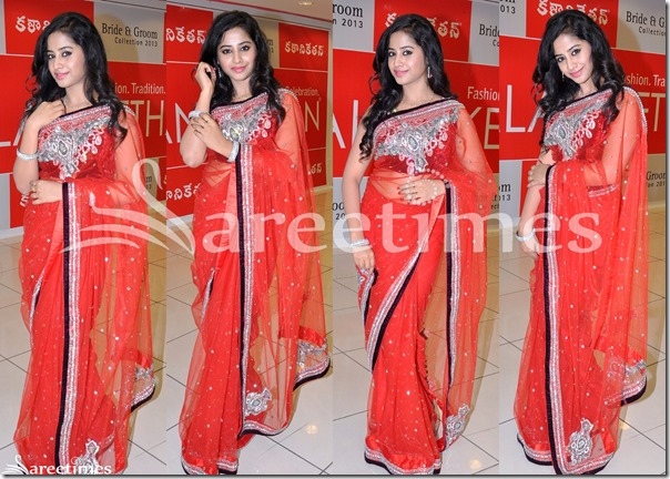 Swathi_Deekshith_Red_Saree