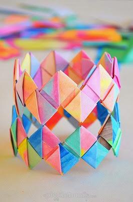 Folded Paper Bracelets from Picklebums