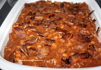 Baked Pork n Beans - Adding the bacon B