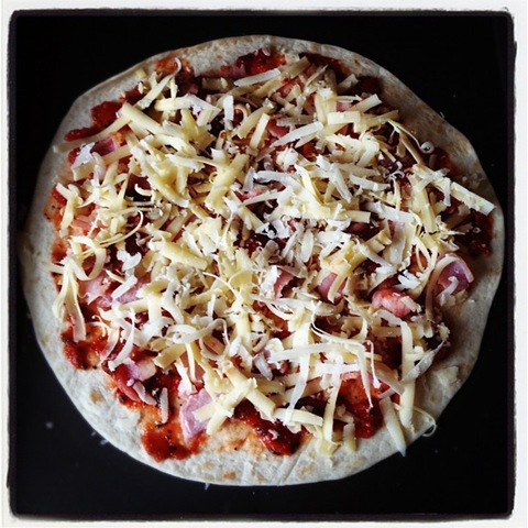 Cheats bacon pizza #2