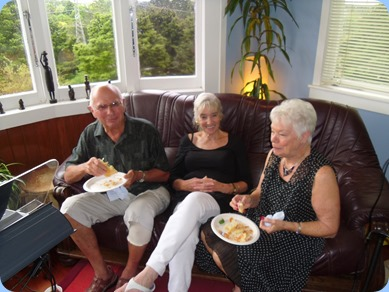 John Perkin, Delyse Whorwood and Barbara Bailey taking an early lunch. John and Barbara had another appointment in the afternoon unfortunately.